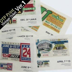 ( カットクロス ) vintage ticket ver.1(ヴィンテージチケット)ハンドスパンイラストカット【 商用利用可 】|nesshome