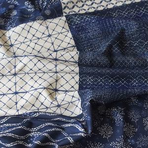 【リネン】シージーエム6in1インペリアル・ブルー ミア・チャロ作品(商用利用不可)【 手芸 生地 布 6柄 手作り 】|nesshome