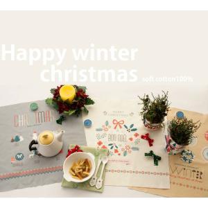 【コットン】ハッピーウィンタークリスマス【生地 布 イラストカットクロス】|nesshome|03