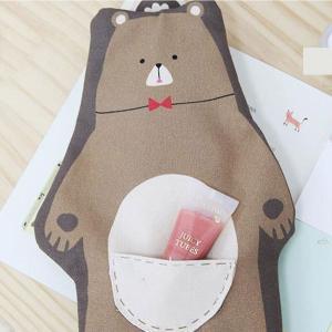 ( コットン ) べべスクールオックス 【 生地 布 手作り 手芸 動物柄 クマ柄 】 【 商用利用可 】|nesshome
