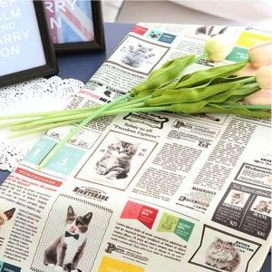 生地 布 【 コットン 】キャットマガジン【 手作り 手芸 動物柄 ネコ柄 】|nesshome