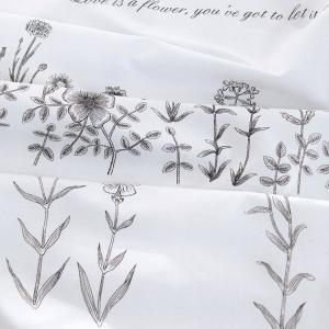 【コットン】Mono Wild flower ワイルドフラワーイラストカットコットン|nesshome
