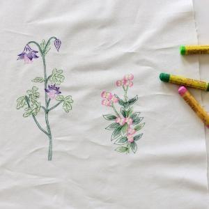 【コットン】Color Wild flower ワイルドフラワーイラストカットコットン|nesshome|03