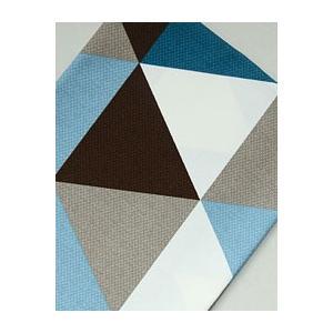 【コットン】BLUE Triangle all in one patch オックスフォードコットン|nesshome