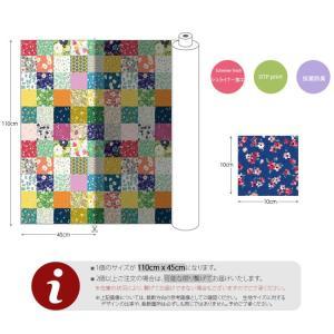 ( コットン )イン・ザ・ガーデン(36種類フラワーデザインパッチ)(抗菌防臭)【 商用利用可 】 nesshome 03