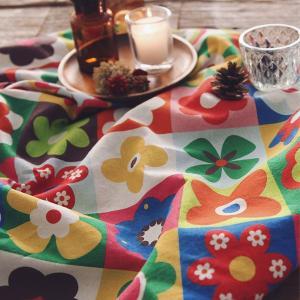 【コットン】ノルディックビビッドフラワー ブランケットパッチコットン 北欧風 花柄 フラワー コットン ハンドメイド 手芸 布 生地 材料 通販|nesshome