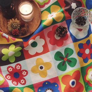 【コットン】ノルディックビビッドフラワー ブランケットパッチコットン 北欧風 花柄 フラワー コットン ハンドメイド 手芸 布 生地 材料 通販|nesshome|02