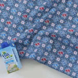 ( リネン ) ブルーマジョリカ(Blue Majolica) リネン【 世界を旅する 】【 手作り 手芸 花柄 】 【 商用利用可 】 nesshome