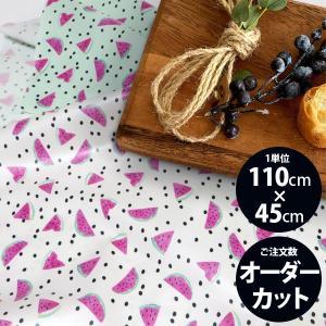 ( 洗えるラミネート生地 ) おいしいスイカ(Watermelon)ラミネート【 手作り 手芸 フルーツ柄 】【 商用利用可 】|nesshome|02