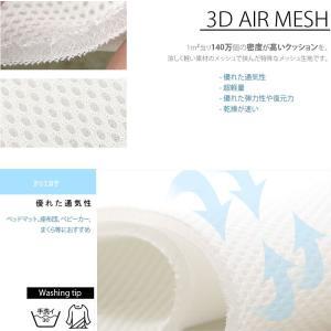【3Dメッシュ生地】ホワイト無地3Dエアーメッシュ生地 nesshome 03
