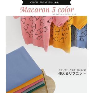 ( リブ生地 ) 30/スパンテレコ マカロン 5色 【 商用利用可 】|nesshome|11