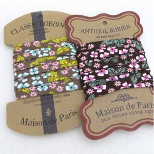 【バイアステープ】 花と蝶1cmバイアステープ 2色|nesshome