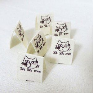 【ラベル】ネコのミーちゃん/挟みタグコットンラベル(6枚)【 商用利用可 】【再入荷】|nesshome