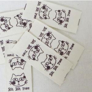 【ラベル】ネコのミーちゃん/挟みタグコットンラベル(6枚)【 商用利用可 】【再入荷】|nesshome|06