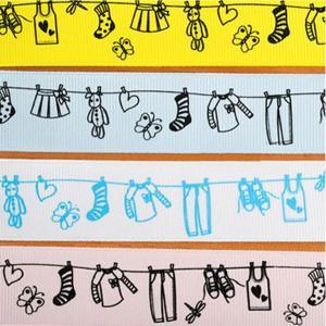 【ラベル】今日はお洗濯日和(2.5cm巾・カワイイ4色・90cm)|nesshome