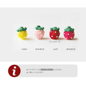【モチーフ】イチゴ2個セット(4color)モチーフ|nesshome|02
