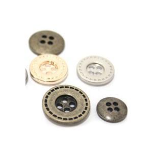 【ボタン】金属ステッチボタン(2個)|nesshome