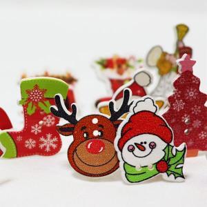 ( ボタン )クリスマスボタン(5個ランダム)【 商用利用可 】【ニューアイテム!SALE!!特別価格】|nesshome