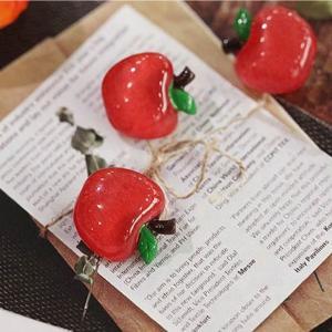 【ボタン】ひめリンゴボタン(1個)Fresh Fruit Button series|nesshome