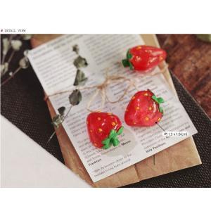 【ボタン】ストロベリーボタン(1個)Fresh Fruit Button series|nesshome|02