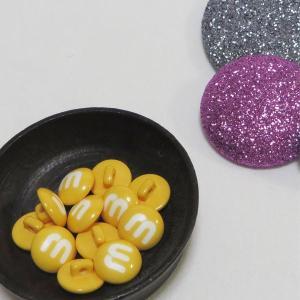 【ボタン】MM Choko(エムアンドエムチョコ)ボタン2個 手芸 かわいい ぼたん チョコレート 手作り ハンドメイド|nesshome|02