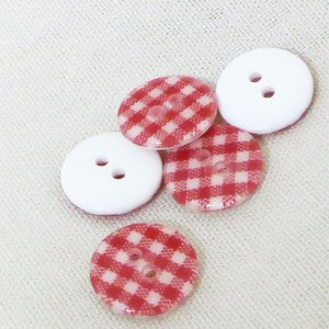 ( ボタン )Red Check Button(レッドチェック)ボタン2個【 商用利用可 】|nesshome