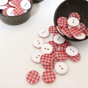 ( ボタン )Red Check Button(レッドチェック)ボタン2個【 商用利用可 】|nesshome|05