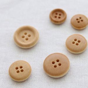 【ボタン】2.5cm カントリーウッドボタン(1個)|nesshome