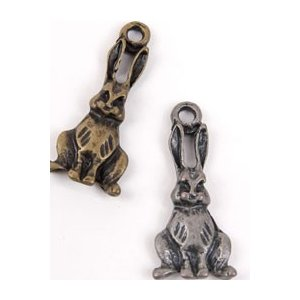 【チャーム・アクセサリー】アンティークウサギ|nesshome