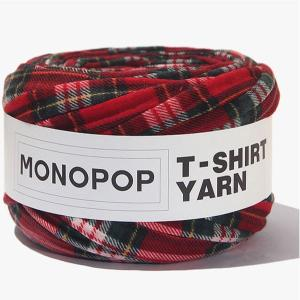 【価格改定 値下げしました】【Tシャツヤーン】レッドグリーンタータンチェックモノポップMONOPOPTシャツ ヤーン|nesshome