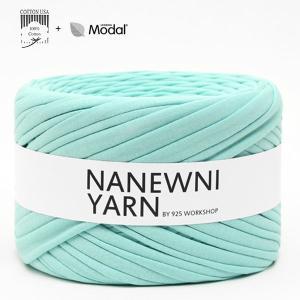 ( Tシャツヤーン )Pastel Mint Muji ナニューニヤーン(NANEWNI YARN)【ビタミンペンダントプレゼント】|nesshome