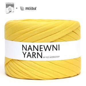 ( Tシャツヤーン )Vivid Yellow Muji ナニューニヤーン(NANEWNI YARN)【ビタミンペンダントプレゼント】|nesshome