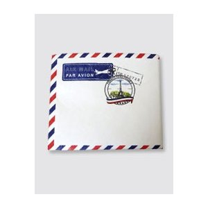 【Paperwalletペーパーウォレット】Air Mail二つ折り財布【Printed on DuPont(TM)TTyvek(R)】★完成品★|nesshome