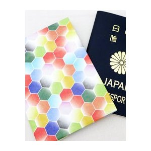 【Paperwalletペーパーウォレット】Hexagonパスポートカバー【Printed on DuPont(TM)Tyvek(R)】|nesshome