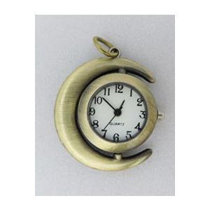 【雑貨】ヴィンテージ Sweet Moon時計のキット/ヴィンテージネックレスタイプ|nesshome