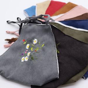 ( マスク ) 刺繍マスク 布マスク │ 花柄 10種類 │ 洗えます  【 新商品セール 特別価格 】|nesshome