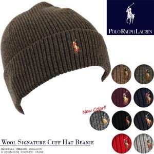 POLO RALPH LAUREN Wool Signature Cuff Hat Beanie 6F0101 ポロ ラルフローレン ラルフ ニット帽 ニットキャップ 帽子 ビーニー|nest001