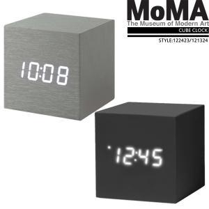 モマ 置時計 アルミニウム キューブクロック MoMA ALUME CUBE CLOCK 121324/122423 インテリア ステーショナリー[ZRC]の画像