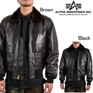 Alpha Industries G-1 Leather Flight Jacket  アルファ ミリタリー フライトジャケット MLG21210P1 レザージャケット|nest001