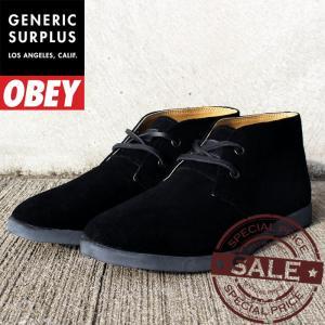 Generic Surplus Wharf (OBEY) BLACK SUEDE OM23WA02 ジェネリックサープラス オベイ スニーカー02P01Nov14|nest001