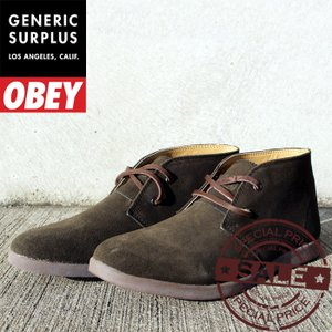 Generic Surplus Wharf (OBEY) MILITARY OLIVE SUEDE OM23WA02 ジェネリックサープラス オベイ スニーカー02P01Nov14|nest001