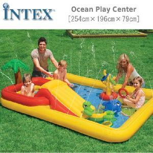 [限定特典]INTEX オーシャン プレイセンター プール ...