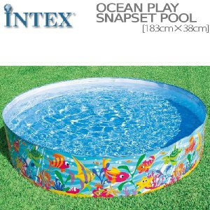 [限定特典][あす楽]INTEX オーシャンプレイスナップセットプール ME-7004 56452NP OCEAN PLAY SNAP SET POOL インテックス 空気入れ不要 簡単 nest001