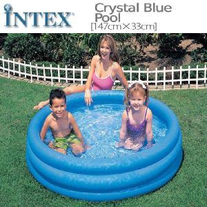 [限定特典][あす楽]INTEXクリスタルブループール ME-7011 58426NP CRYSTAL BLUE POOL インテックス シンプル 家庭用|nest001