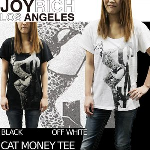 【SALE!!】JOYRICH Tシャツ Cat Money Tee F1210BT ジョイリッチ■AP_10off[DM便送料無料!!] nest001
