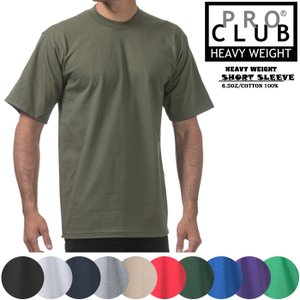 PRO CLUB HEAVY WEIGHT TEE プロクラブ ヘビーウェイトTシャツ Tシャツ 無地T [DM便送料無料!!]|nest001