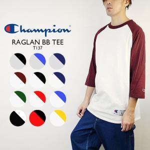 【再入荷】Champion RAGLAN BB TEE BASEBALL T SHIRTS チャンピオン ラグラン ベースボール Tシャツ[DM便送料無料!!]|nest001