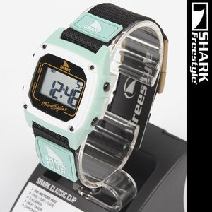 Freestyle Shark Clip Green Black 103326 フリースタイル シャーク クリップ 腕時計|nest001