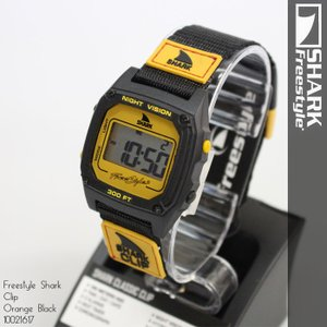 Freestyle Shark Clip Green Orange 10019182 フリースタイル シャーク クリップ 腕時計 【楽ギフ_包装】 ds-Y|nest001