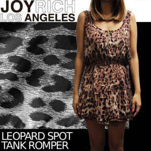 【SALE!!】JOYRICH 豹柄ワンピース ロンパース Leopard Spot Tank Romper F1266OP ジョイリッチ■AP_10off nest001
